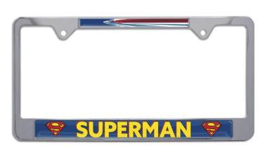 Superman Fly Chrome License Plate Frame