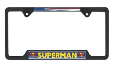 Superman Fly Open Black License Plate Frame