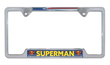 Superman Fly Open Chrome License Plate Frame