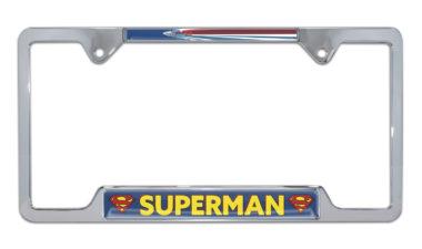 Superman Fly Open Chrome License Plate Frame