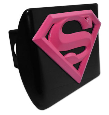 Supergirl Pink and Black Hitch Cover