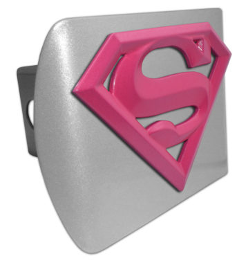 Supergirl Pink and Brushed Hitch Cover