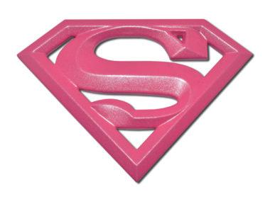 Supergirl Hot Pink Metal Emblem