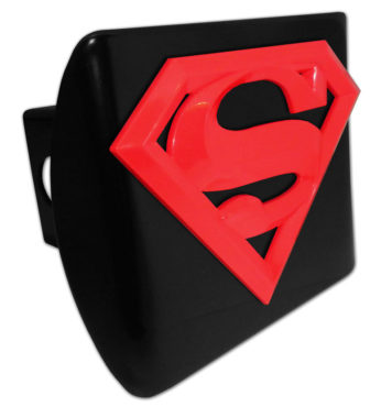 Superman Red Emblem on Black Hitch Cover