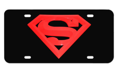 Superman Red and Black License Plate