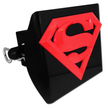 Superman Red Emblem on Black Plastic Hitch Cover