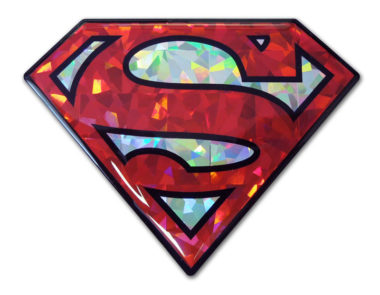 Superman Red 3D Reflective Decal image