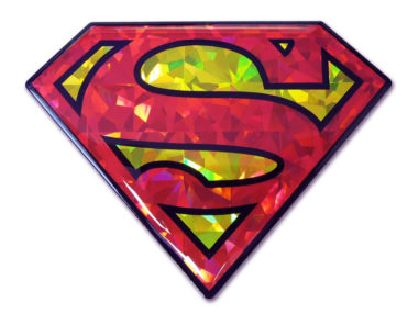 Superman Red and Yellow 3D Reflective Decal