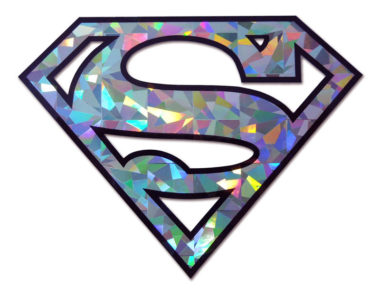 Superman Silver Reflective Decal  image