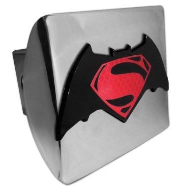 Batman v Superman Red and Chrome Hitch Cover