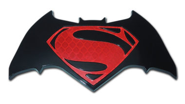 Batman v Superman Red Acrylic Emblem image
