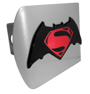 Batman v Superman Red and Brushed Hitch Cover