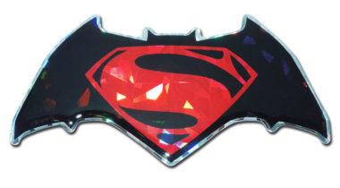 Batman v Superman Red 3D Reflective Decal