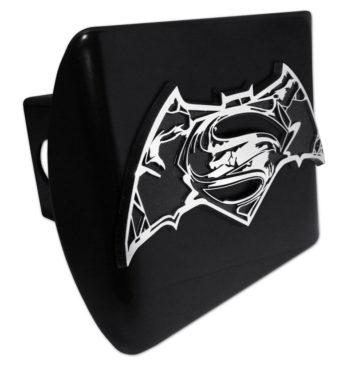 Batman v Superman Distressed Black Hitch Cover