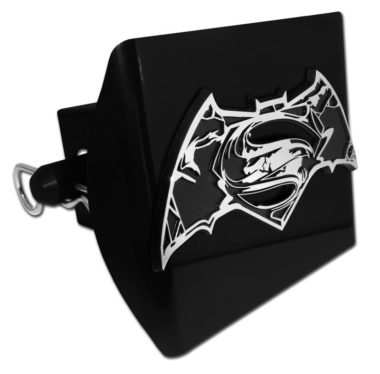 Batman v Superman Distressed Black Plastic Hitch Cover image