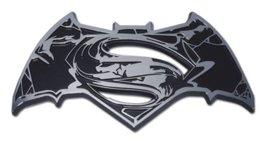 Batman v Superman Distressed Chrome Emblem