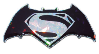Batman v Superman Silver 3D Reflective Decal image