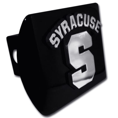 University of Syracuse Emblem on Black Hitch Cover