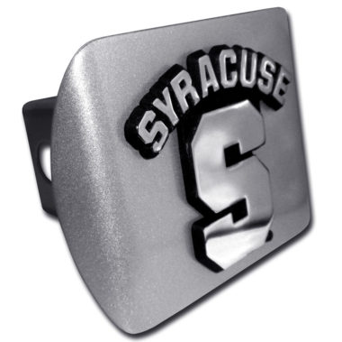 University of Syracuse Emblem on Brushed Hitch Cover