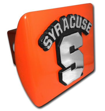 University of Syracuse Emblem on Orange Hitch Cover