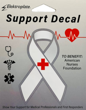 Frontline Support White Ribbon Decal