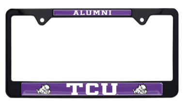 TCU Alumni Black License Plate Frame