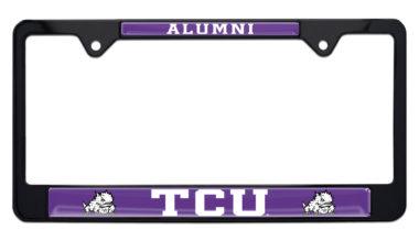 TCU Alumni Black License Plate Frame image