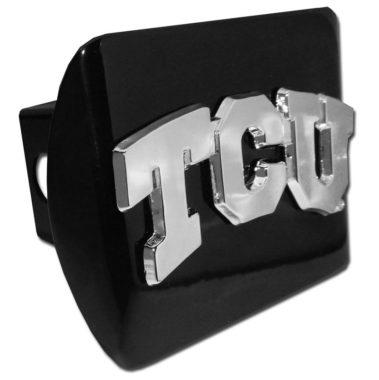 TCU Emblem on Black Hitch Cover