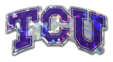 TCU Purple 3D Reflective Decal