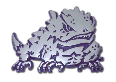 TCU Horn Frog Purple Chrome Emblem