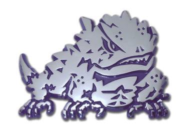 TCU Horn Frog Purple Chrome Emblem