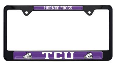 TCU Horned Frog Black License Plate Frame image