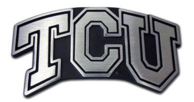 TCU Matte Chrome Emblem