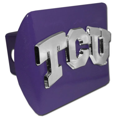 TCU Emblem on Purple Hitch Cover