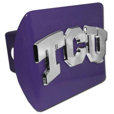 TCU Emblem on Purple Hitch Cover