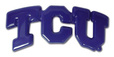TCU Purple Powder-Coated Emblem