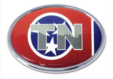 Tennessee Flag Chrome Emblem