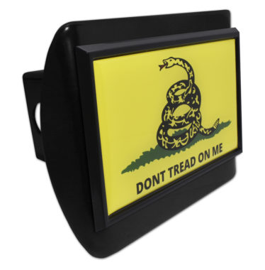 Don't Tread On Me Flag Black Emblem on Black Hitch Cover image