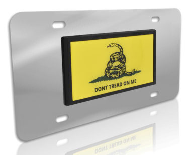 Don't Tread Flag Stainless Steel License Plate image