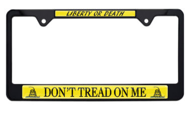 Don't Tread On Me Black License Plate Frame