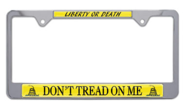Don't Tread On Me Flag License Plate Frame