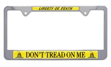 Don't Tread On Me Flag License Plate Frame image