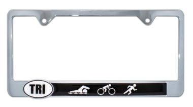 Triathlon License Plate Frame image