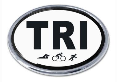 Triathlon Chrome Emblem