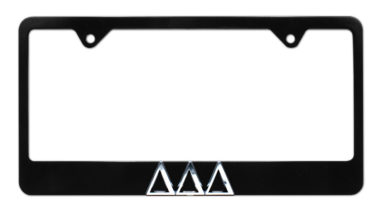 Tri Delt Black License Plate Frame