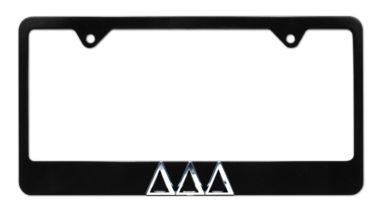 Tri Delt Black License Plate Frame