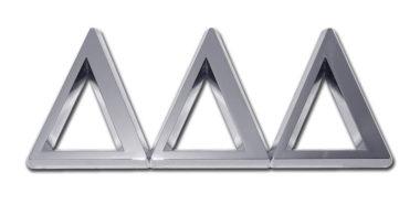 Tri Delt Chrome Emblem