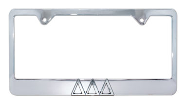 Tri Delt Chrome License Plate Frame
