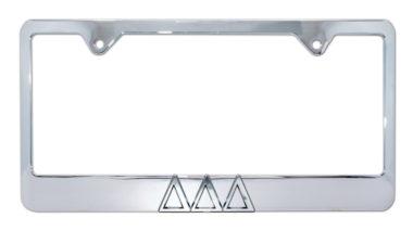 Tri Delt Chrome License Plate Frame