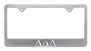 Tri Delt Matte License Plate Frame
